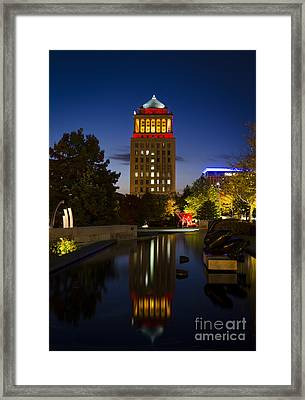 City Garden Framed Print by Andrea Silies