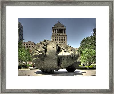 City Garden Framed Print by Jane Linders