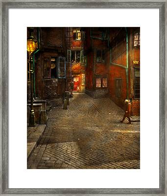City - Germany - On A Corner Street 1904 Framed Print