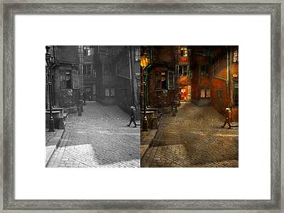 City - Germany - On A Corner Street 1904 - Side By Side Framed Print