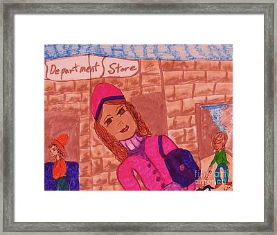 City Girl Framed Print