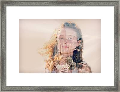 City Girl Framed Print by Maria Dryfhout