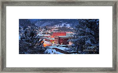 City Glow Framed Print