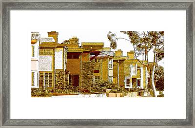 City Gold Framed Print by Ben and Raisa Gertsberg