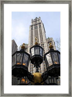 City Hall Area Nyc Framed Print by Henri Irizarri