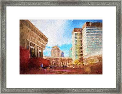 City Hall At Government Center Framed Print