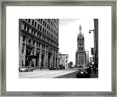 City Hall B-w Framed Print by Anita Burgermeister