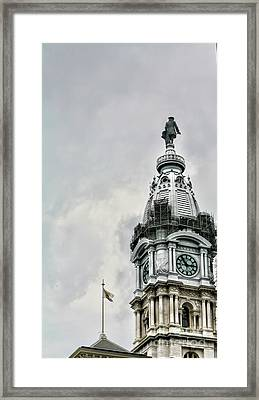 City Hall Ben Franklin Framed Print by Chuck Kuhn