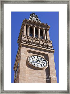 City Hall Clock Tower Framed Print