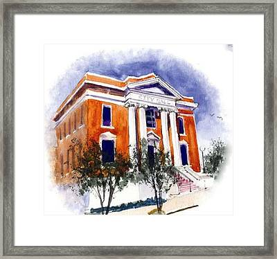 City Hall  Hattiesburg  Mississippi Framed Print by Bobby Walters