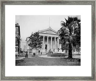 City Hall  Lafayette Square, New Orleans 1890 Framed Print