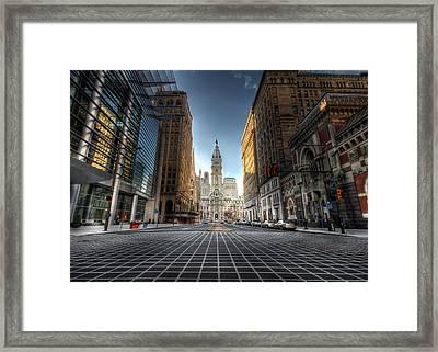 City Hall Framed Print by Lori Deiter