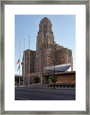 City Hall Framed Print by Peter Chilelli