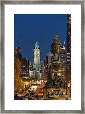 City Hall Philadelphia Framed Print by John Greim