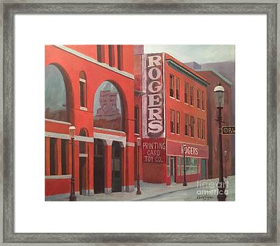City Hall Reflection Framed Print by Claire Gagnon