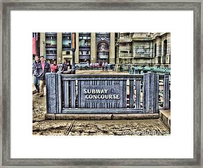 City Hall Sidewalk Framed Print