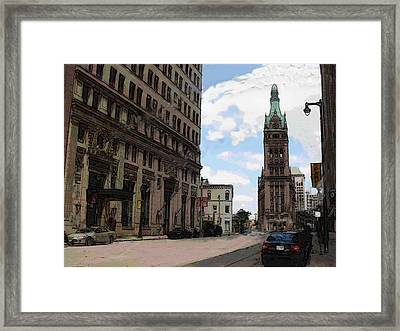 City Hall View From South Framed Print