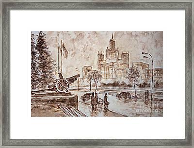 City High Framed Print by Kristian Leov