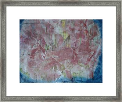 City In Blue Framed Print by Russell Simmons