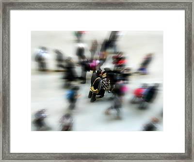City In Movement Framed Print