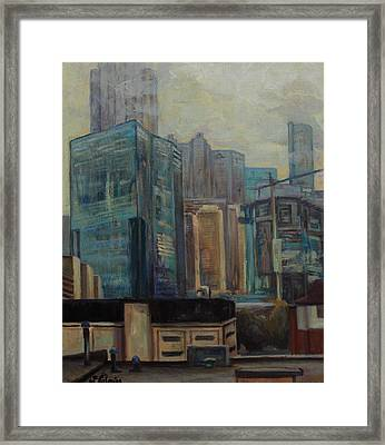 City In The Cityscape Framed Print by Maris Salmins
