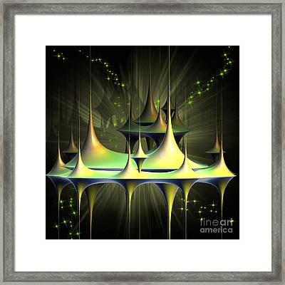 City In The Sky Framed Print by Melissa Messick