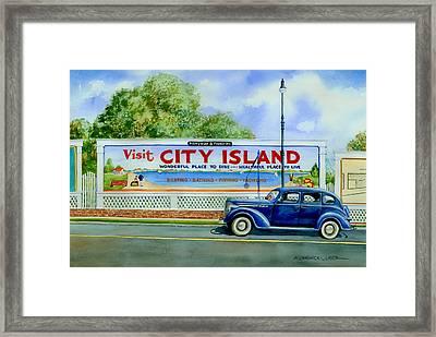 City Island Billboard Framed Print by Marguerite Chadwick-Juner