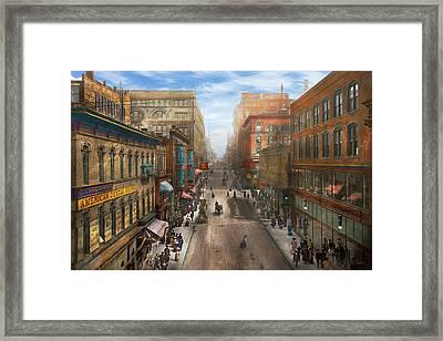 City - Kansas City Mo - Petticoat Lane 1906 Framed Print