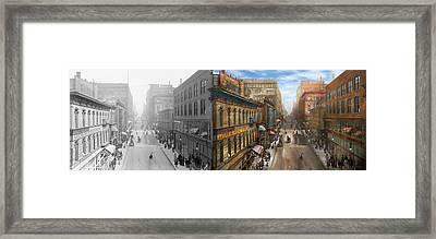 City - Kansas City Mo - Petticoat Lane 1906 - Side By Side Framed Print