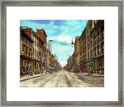 City - Knoxville Tn - Gay Street 1903 Framed Print by Mike Savad