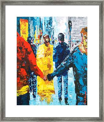 City Life  Framed Print by Claude Marshall