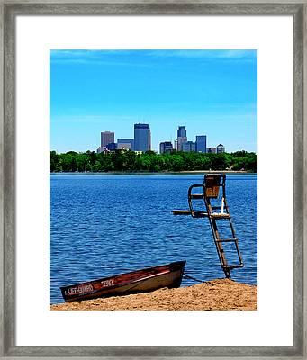 City Life Guard Framed Print by Perry Webster