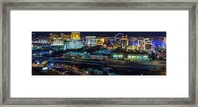 City Lifescape View Las Vegas Framed Print