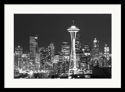 Seattle Landmarks Framed Prints