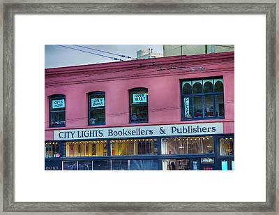 City Lights Booksellers Framed Print