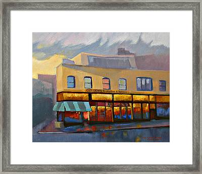 City Lights Bookstore Framed Print
