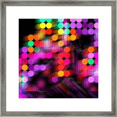 Framed Print featuring the digital art City Lights by Fran Riley