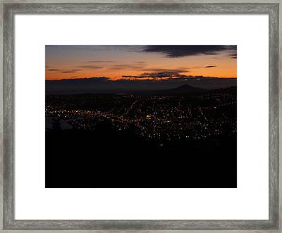City Lights From Signal Hill Framed Print