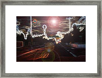 City Lights Framed Print by Joshua Sunday