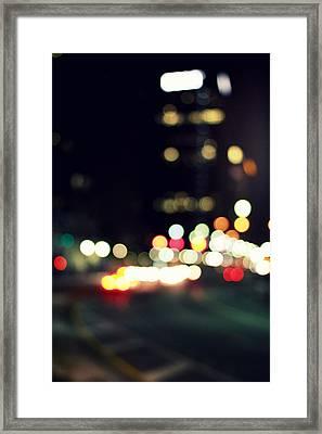 City Lights Framed Print