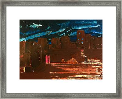 Framed Print featuring the painting City Lights by Norma Duch