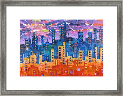 City Lights Framed Print by Rollin Kocsis