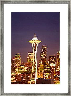 City Lights Framed Print by Sonja Anderson