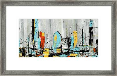 Framed Print featuring the painting City Limits by Carmen Guedez