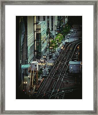 City Lines Framed Print