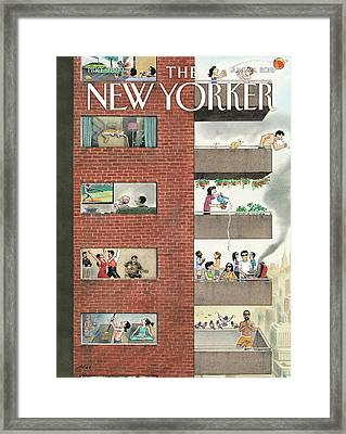 City Living Framed Print