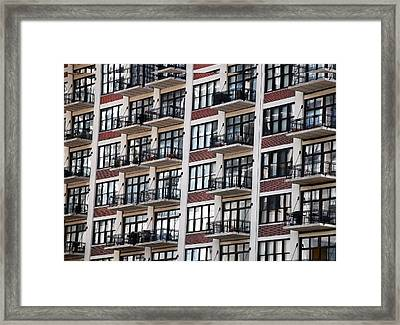 City Living Framed Print by M Ryan