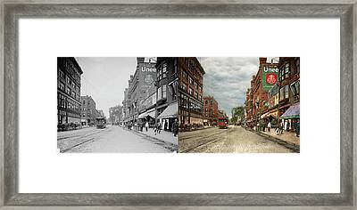 City - Lowell Ma - A Dam Good Company 1908 - Side By Side Framed Print by Mike Savad