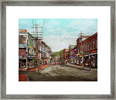 Framed Print featuring the photograph City - Ma Glouster - A Little Bit Of Everything 1910 by Mike Savad