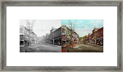 Framed Print featuring the photograph City - Ma Glouster - A Little Bit Of Everything 1910 - Side By Side by Mike Savad